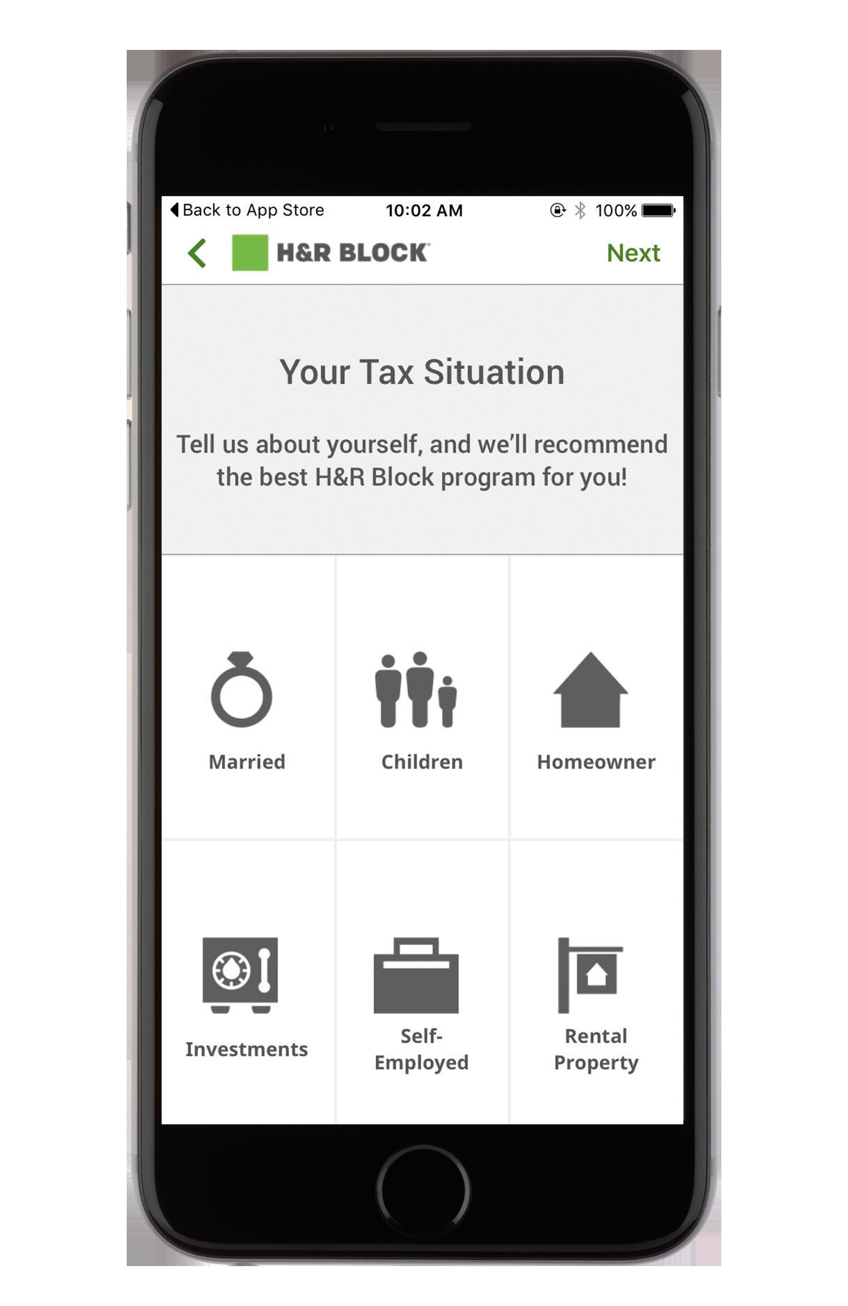 H&R Block estimates its clients
