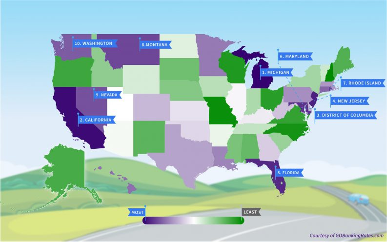 worst states to own a car