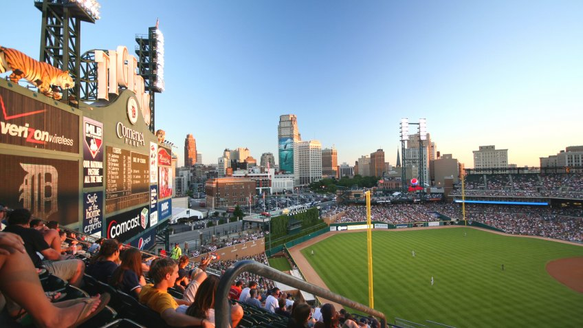 Comerica Park Detroit baseball stadium
