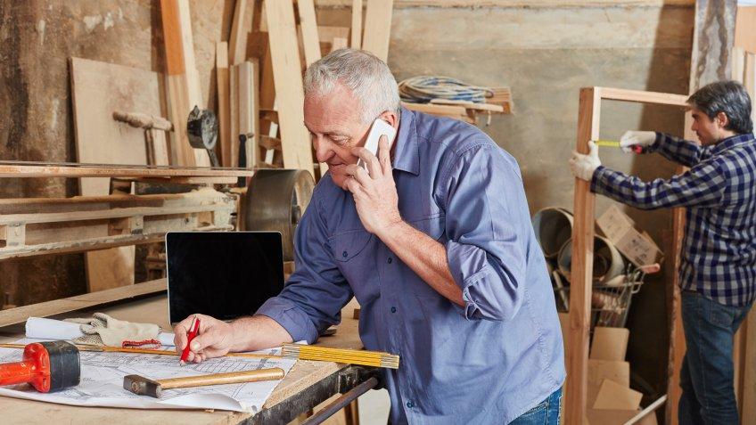 senior male working until retirement