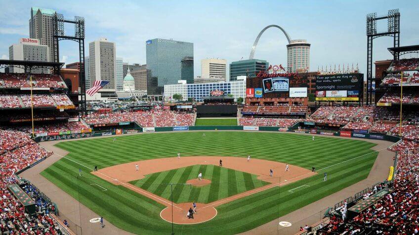 Busch Stadium St Louis Cardinals Missouri baseball stadium