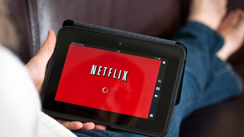 netflix app on a tablet