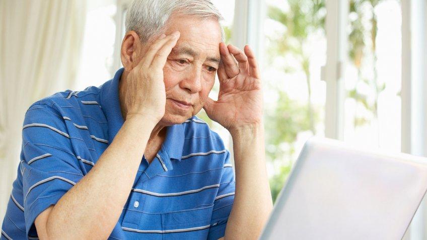 frustrated senior man