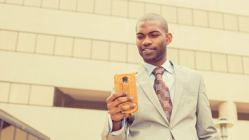 young business man using a smartphone