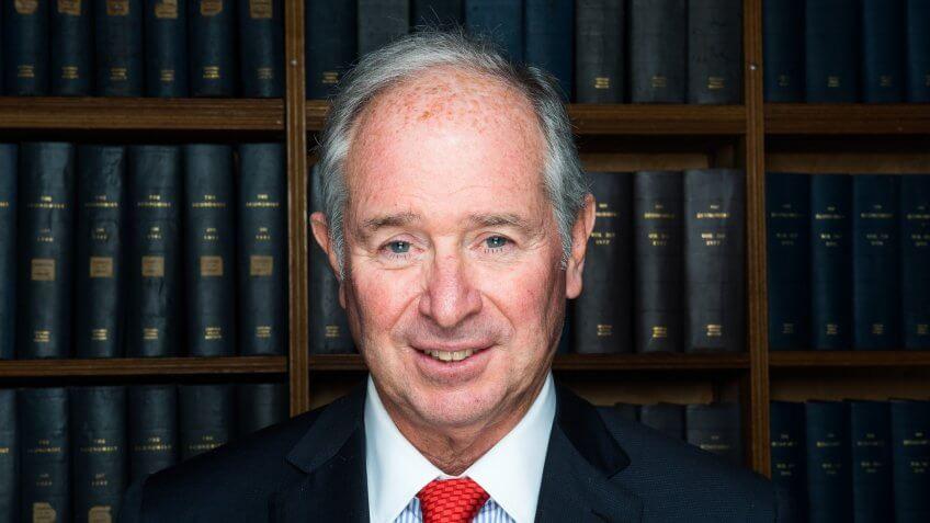 CEO of Blackstone Group Stephen SchwarzmannStephen Schwarzman at the Oxford Union, UK - 01 Nov 2016.