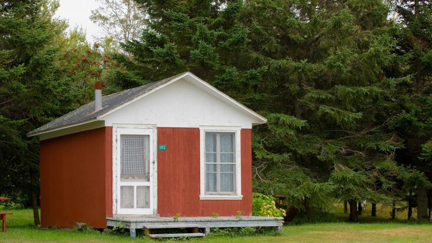 retire to a tiny home