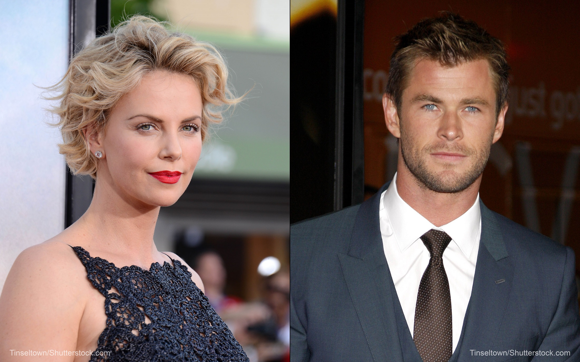Charlize Theron and Chris Hemsworth in 'The Huntsman'