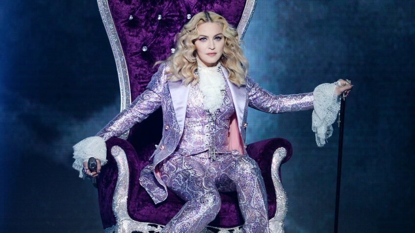11840, 2016 in Las Vegas, Las Vegas, NV - MAY 22:  Recording artist Madonna performs a tribute to Pri, Nevada.  (Photo by Kevin Winter/Getty Images)