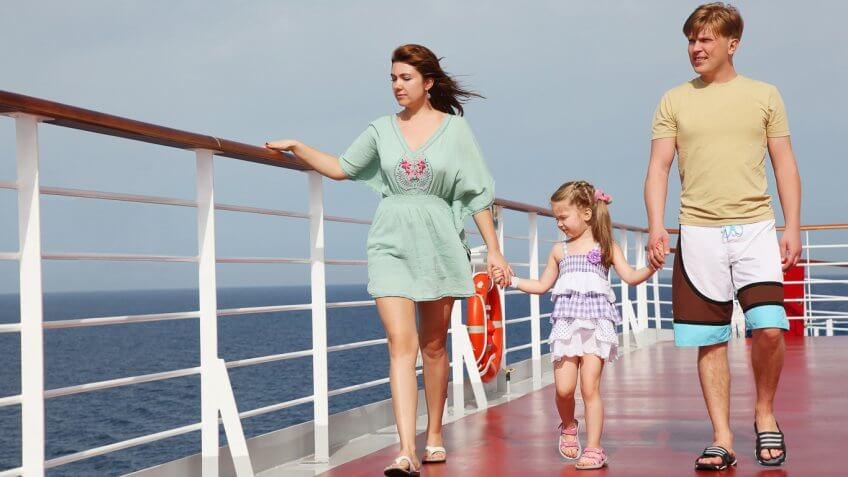 young family on a cruise