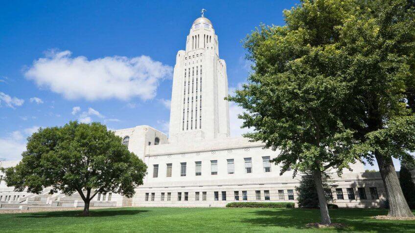 Lincoln - Nebraska, Nebraska, USA, State Capitol Building, Courthouse.
