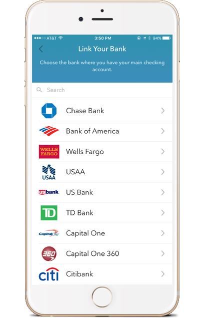 Acorns app bank list