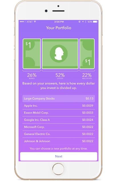 Acorns app portfolio