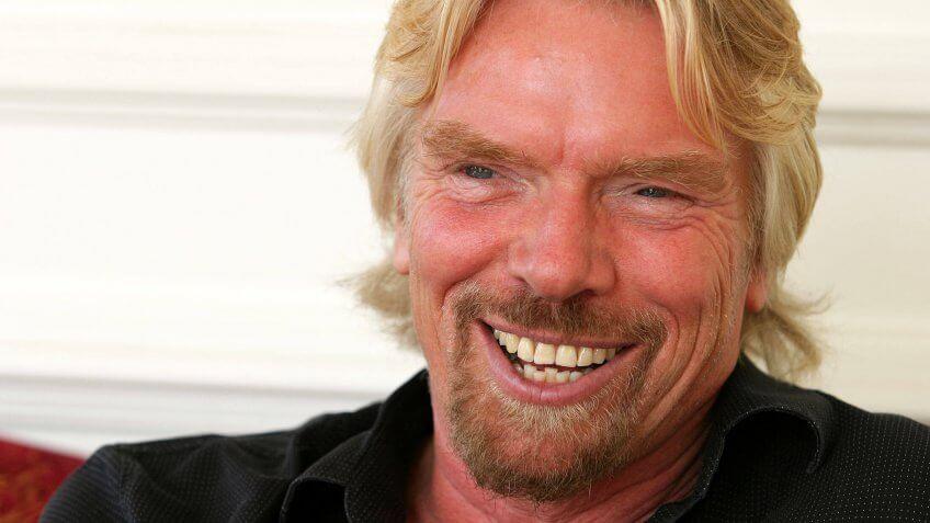 Richard Branson in his 20s