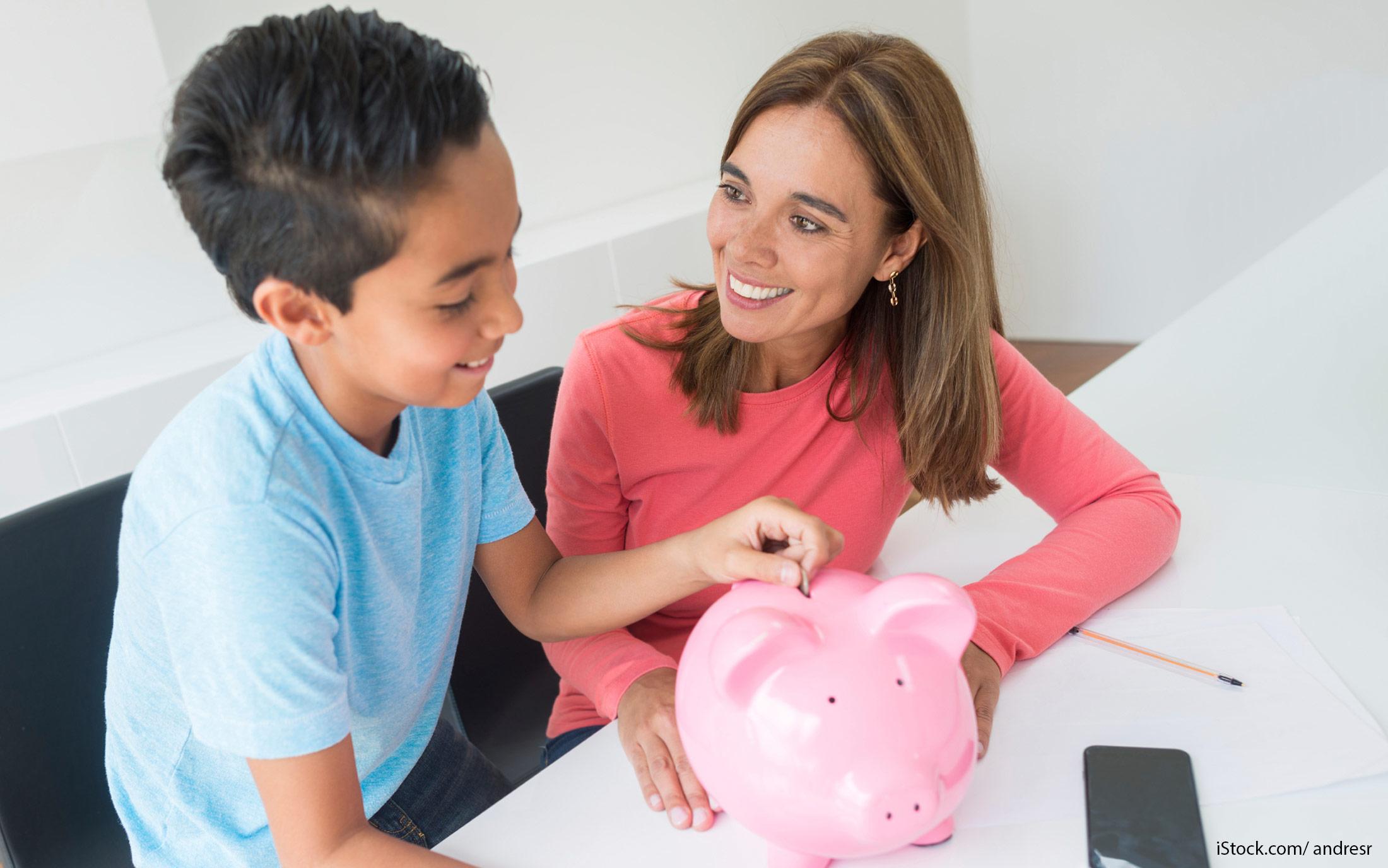 teach kids how to save