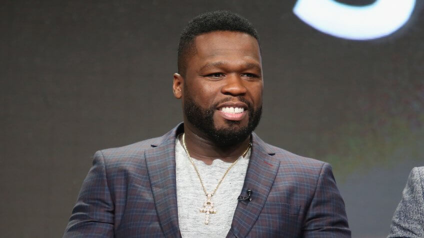 """BEVERLY HILLS, CA - AUGUST 01:  Executive producer/actor Kurtis """"50 Cent"""" Jackson speaks onstage during the 'Power' panel discussion at the Starz portion of the 2016 Television Critics Association Summer Tour at The Beverly Hilton Hotel on August 1, 2016 in Beverly Hills, California."""