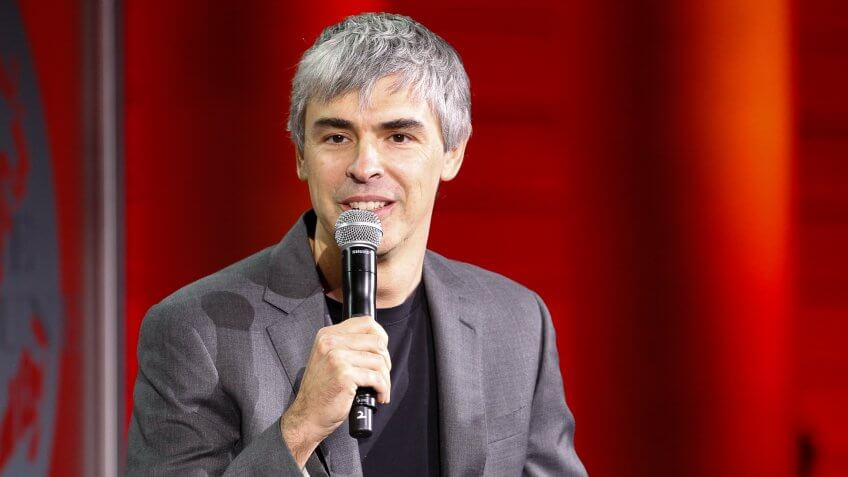 SAN FRANCISCO, CA - NOVEMBER 02:  Larry Page speaks during the Fortune Global Forum at the Legion Of Honor on November 2, 2015 in San Francisco, California.