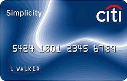 Citi Simplicity Card