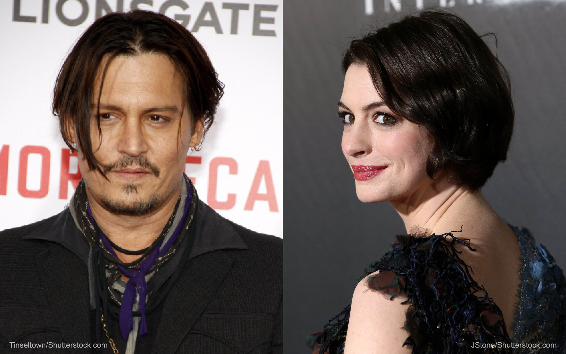 Johnny Depp and Anne Hathaway