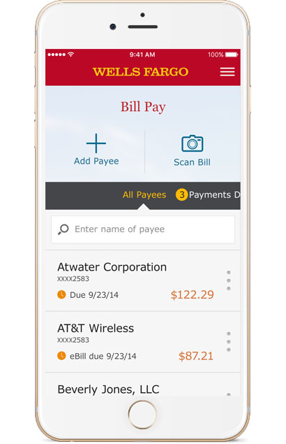 Wills Fargo Mobile Bill Pay