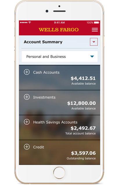 Wells Fargo Mobile Account Summary