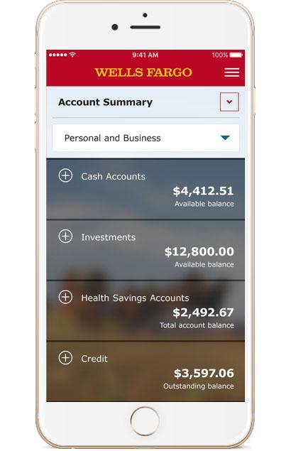 Wells Fargo Mobile Account Summary