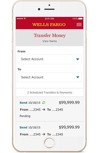 Wells Fargo Mobile Transfers