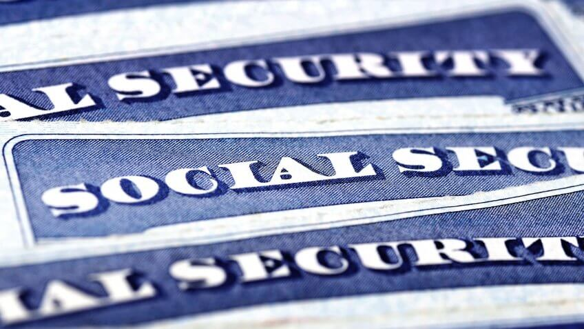 social security cards close up