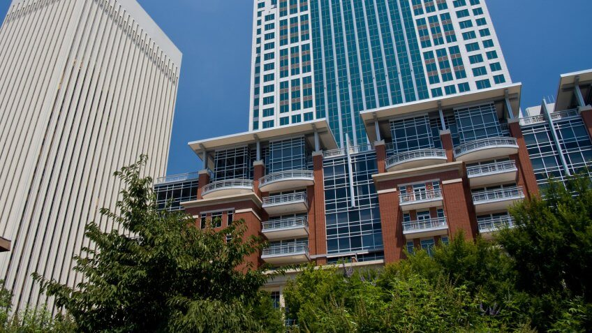 11825, Apartments, BUILDING, Building-Type, Charlotte - North Carolina, Cities, Here's What an Average Apartment Costs in 50 US Cities, House, States, US, USA, Wachovia, america, center city
