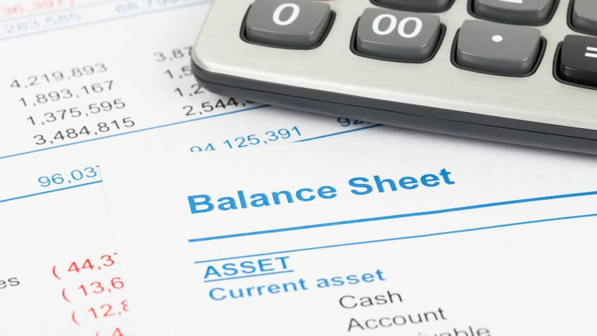 balance sheet with current assets