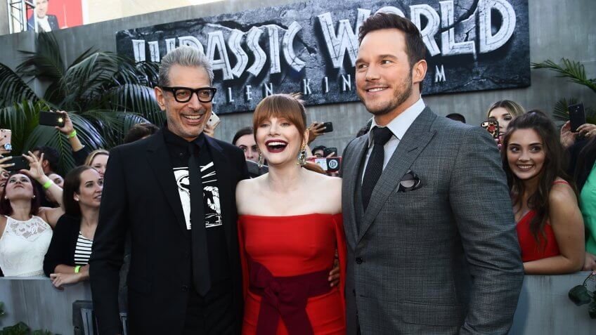 Photo by Michael Buckner/Variety/REX/Shutterstock Jeff Goldblum, Bryce Dallas Howard and Chris Pratt 'Jurassic World: Fallen Kingdom' film premiere, Arrivals, Los Angeles, USA - 12 Jun 2018