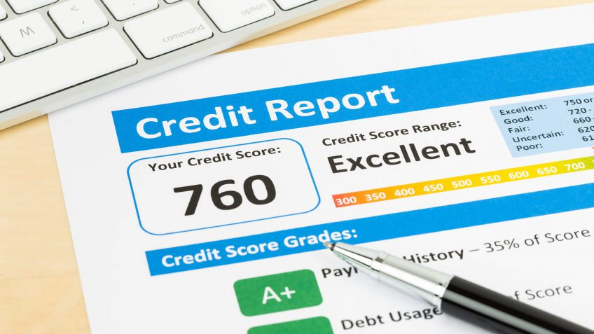 Credit score print-out