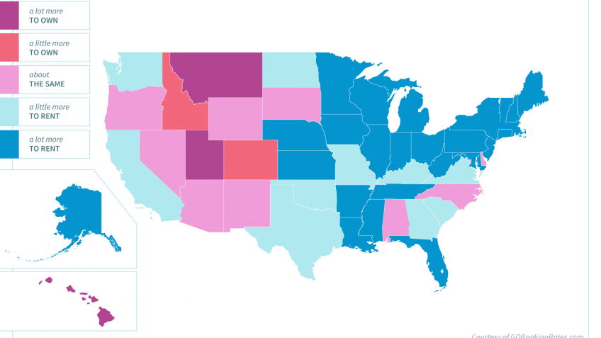 the cost of renting vs owning a home in every state gobankingrates