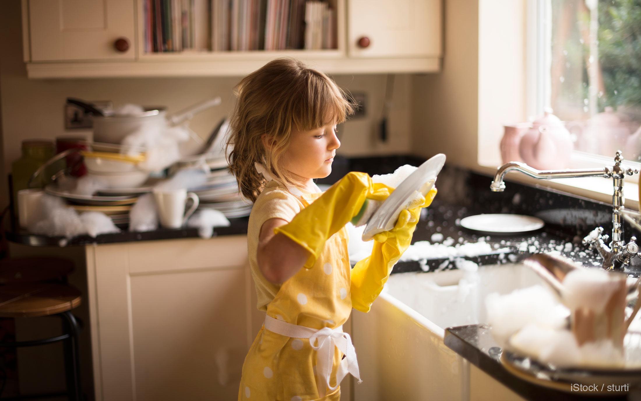 washing dishes chore