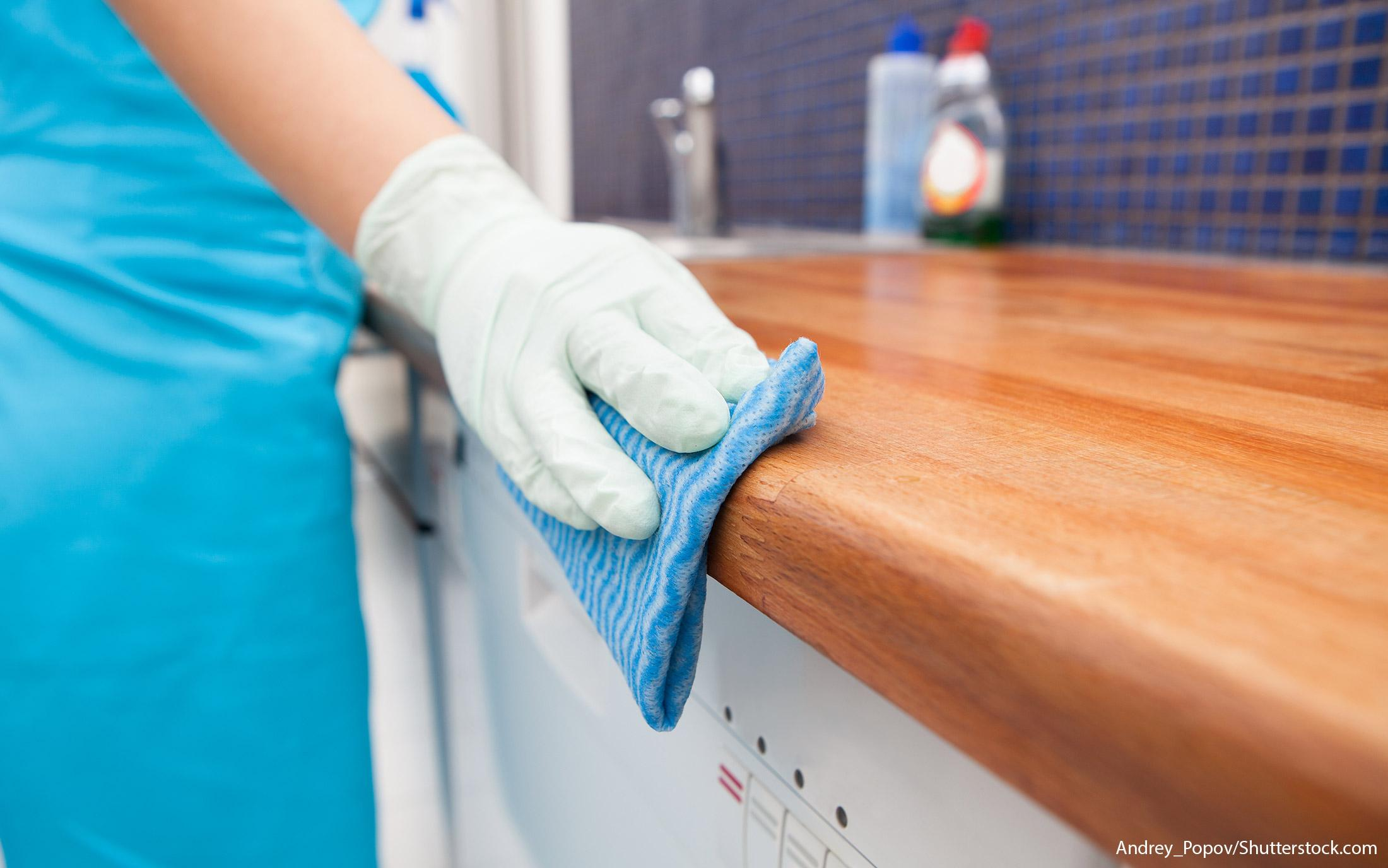 cleaning a tiny home