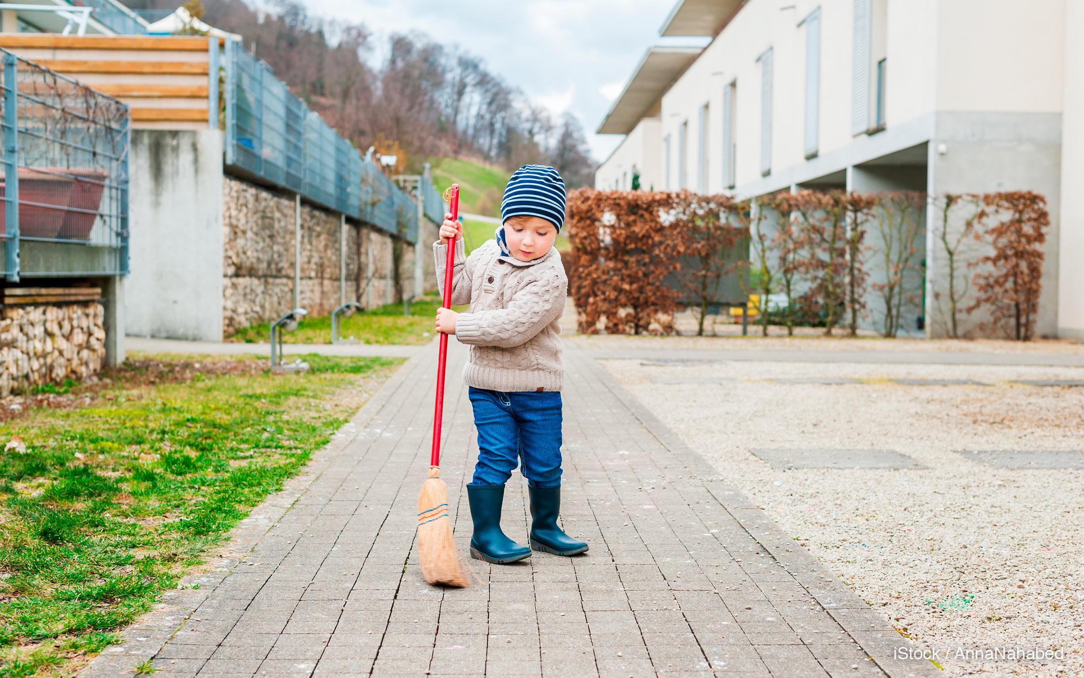 sweeping chore