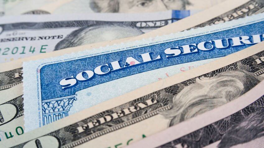 social security card with cash