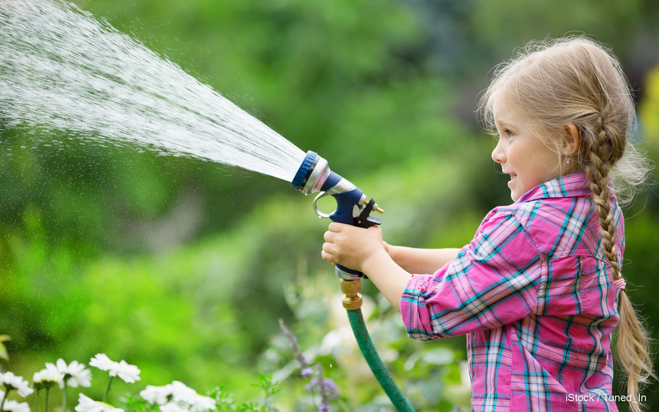 watering garden chore