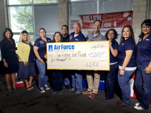 Air Force Federal Credit Union Donates $5,000 to San Antonio Food Bank