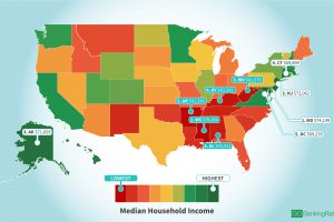 Here's How Much the Average American Makes in Every State