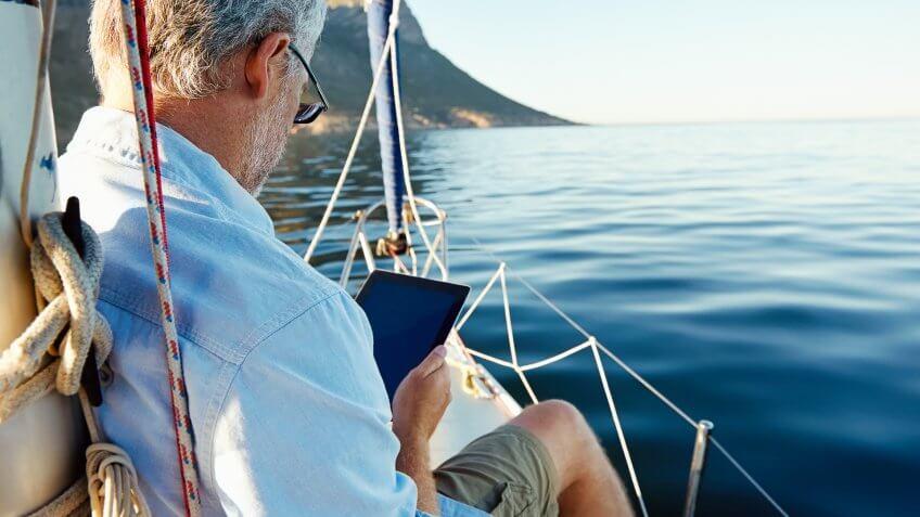 senior-man-on-boat