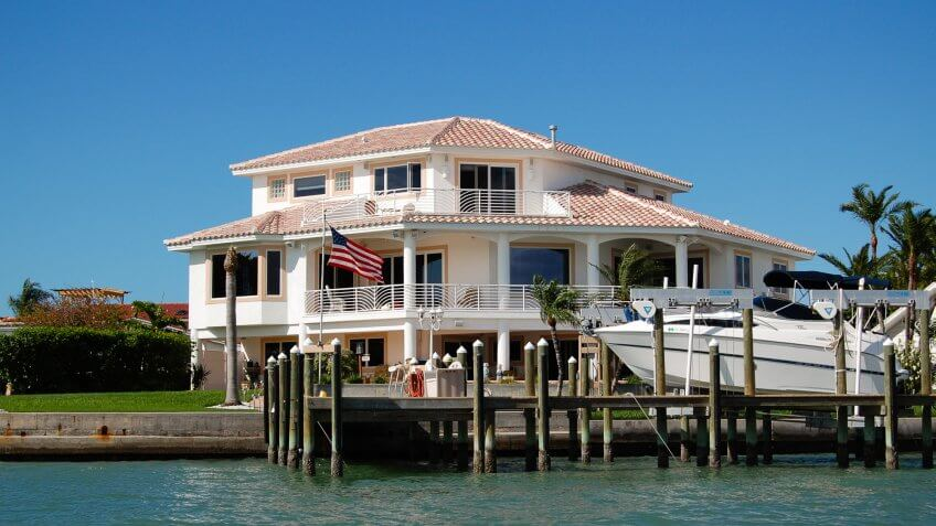 tampa florida waterfront house