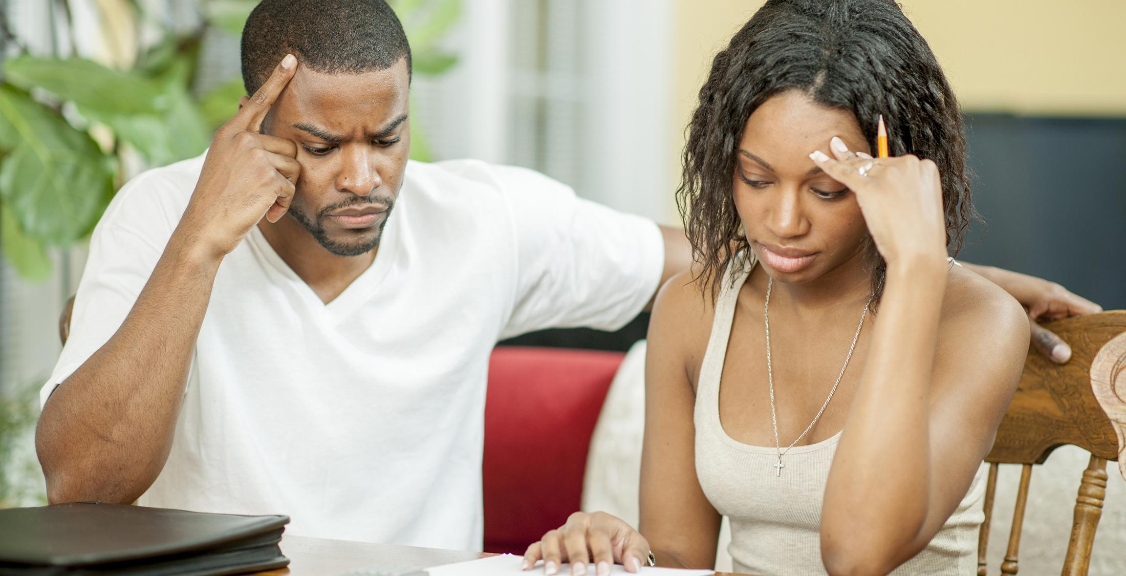 couple struggling