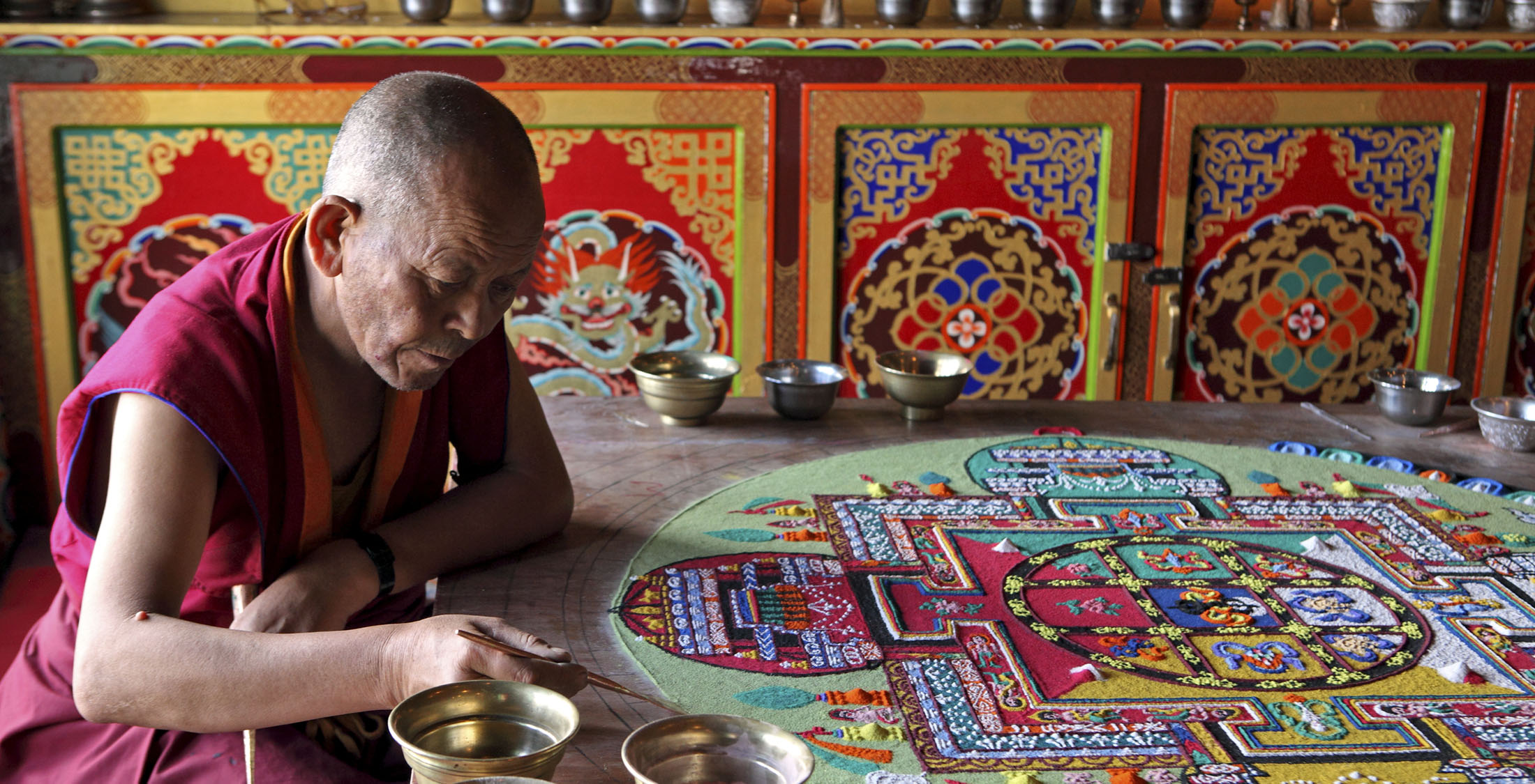 watch monks perform sand mandala