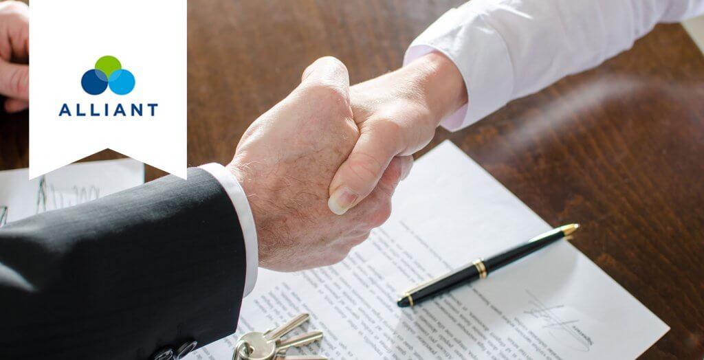 alliant handshake over document