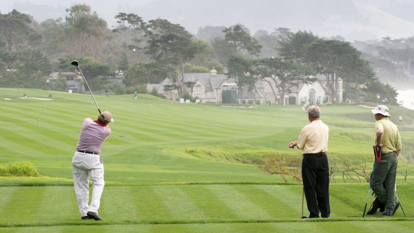 AT and T national Pro-am 2006, Pebble beach Golf links, Monterey, california, hole 9.