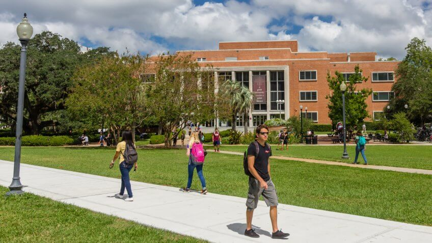 TALLAHASSEE, FL, USA - SEPTEMBER 13: Robert Manning Strozier Library at Florida State University on September 13, 2016 in Tallahassee, Florida.