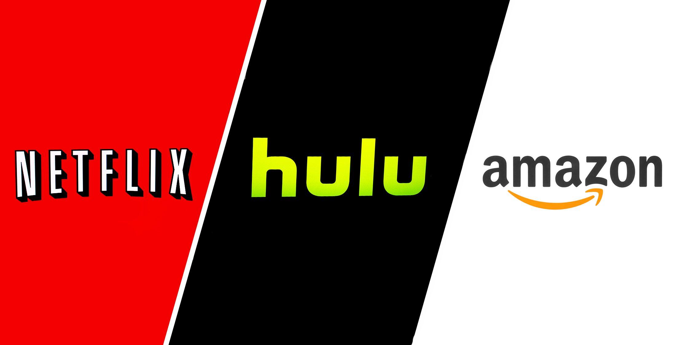 netflix hulu and amazon logos