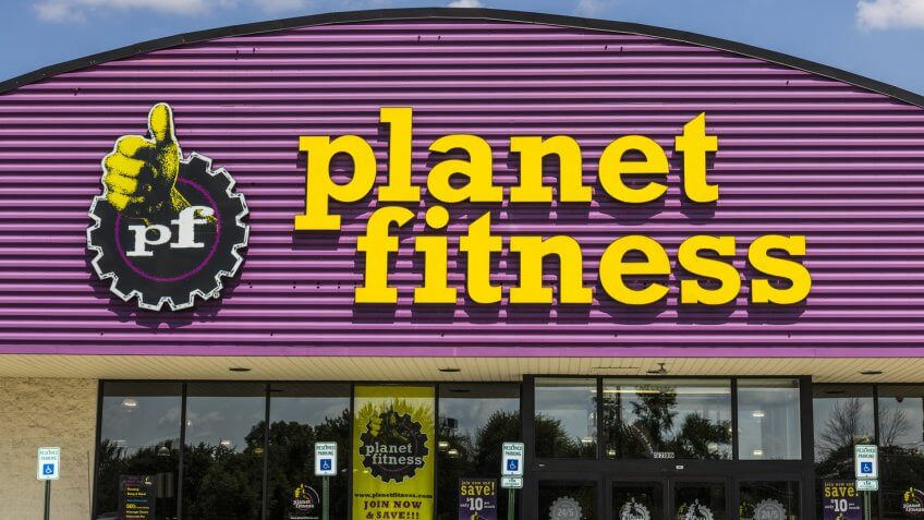 Indianapolis - Circa August 2017: Planet Fitness local gym and workout center.