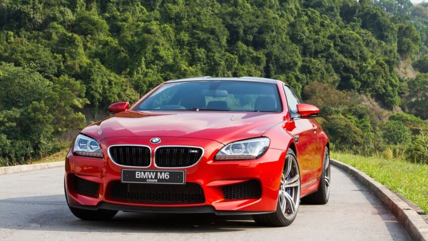 Hong Kong, China OCT 22, 2012 : BMW M6 Coupe test drive on OCT 22 2012 in Hong Kong.