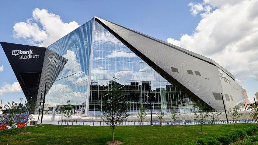 Minnesota Vikings Game at U.S. Bank Stadium: $224.34, Minnesota-Vikings-US-Bank-Stadium